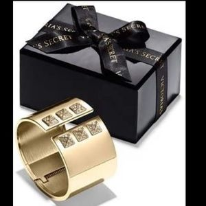 Victoria's Secret Gold Cuff with Bling Studs